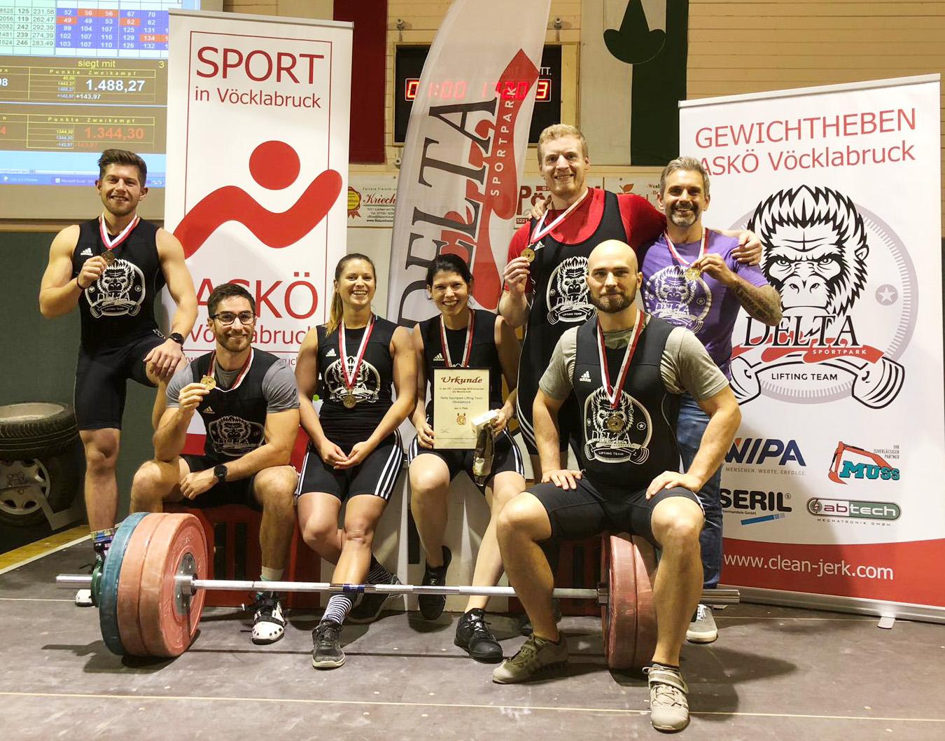 Bronze für das ASKÖ/Delta Sportpark Lifting Team